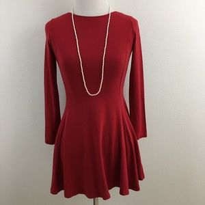 🆕 Red Jersey Fit & Flare Dress